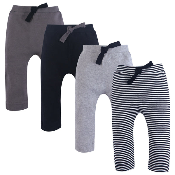 Touched by Nature Organic Cotton Pants, Black Gray