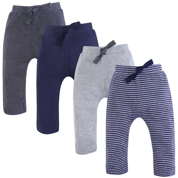 Touched by Nature Organic Cotton Pants, Navy Gray