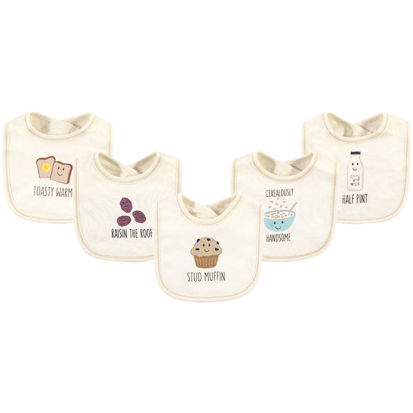 Touched by Nature Organic Cotton Bibs, Muffin