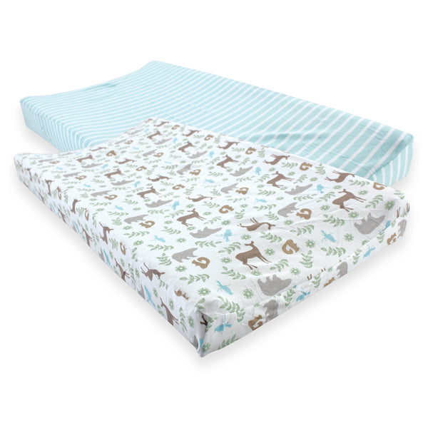 Touched by Nature Organic Cotton Changing Pad Cover, Forest