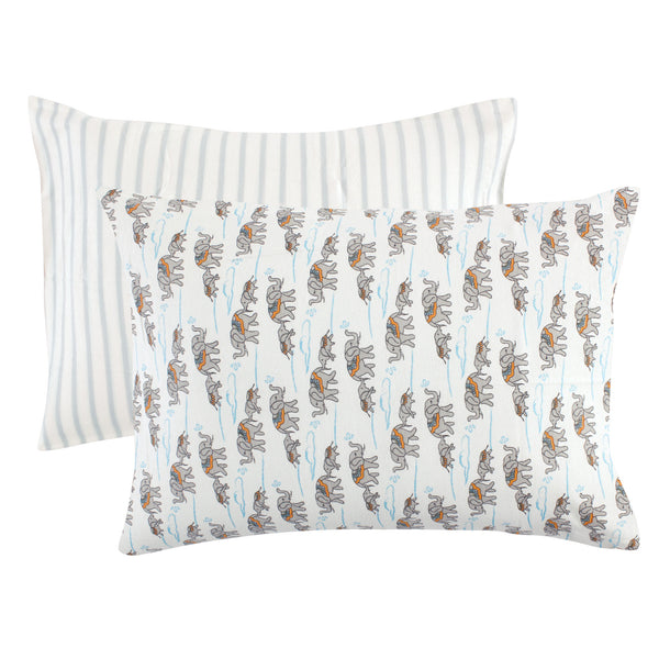 Touched by Nature Organic Cotton Toddler Pillowcase, Elephants