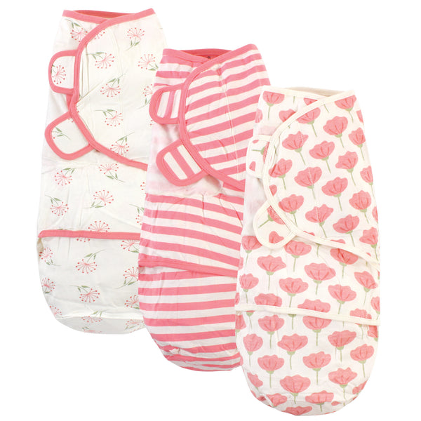 Touched by Nature Organic Cotton Swaddle Wraps, Tulip