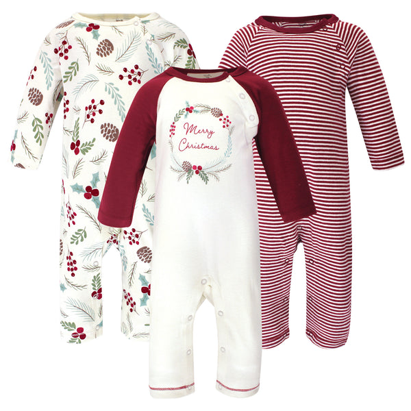 Touched by Nature Organic Cotton Coveralls, Holly Berry