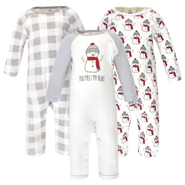 Touched by Nature Organic Cotton Coveralls, Snowman