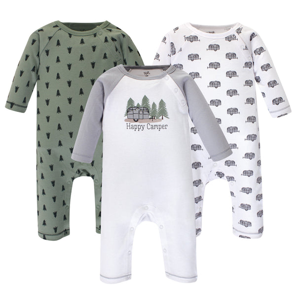 Touched by Nature Organic Cotton Coveralls, Happy Camper