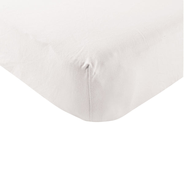 Touched by Nature Organic Cotton Crib Sheet, White