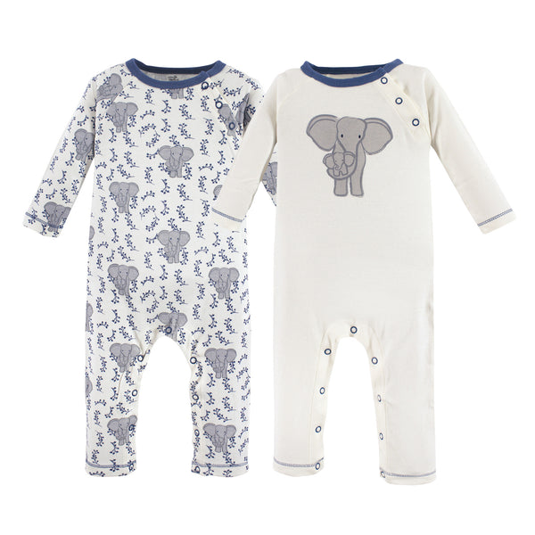 Touched by Nature Organic Cotton Coveralls, Elephant