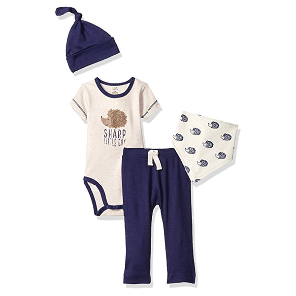 Touched by Nature Organic Cotton Layette Set 4-Piece, Hedgehog