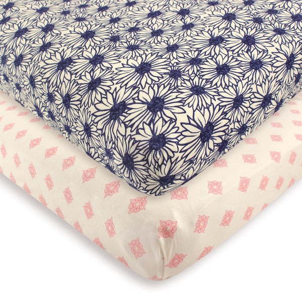 Touched by Nature Organic Cotton Crib Sheet, Daisy