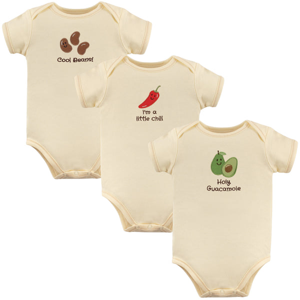 Touched by Nature Organic Cotton Bodysuits, Guacamole