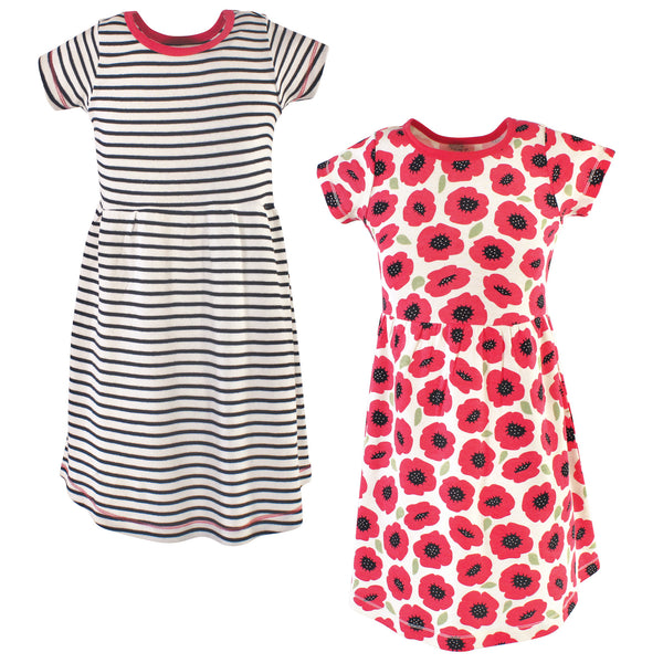 Touched by Nature Organic Cotton Short-Sleeve and Long-Sleeve Dresses, Youth Poppy Short Sleeve