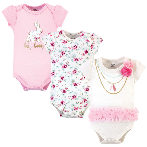 Little Treasure Cotton Bodysuits, Baby Bunny