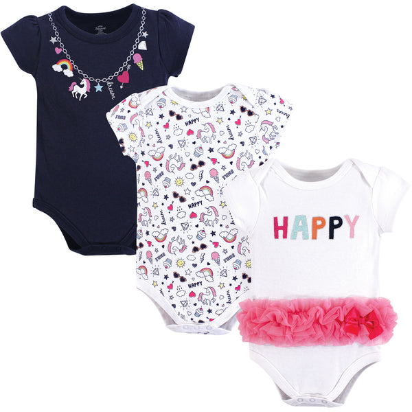 Little Treasure Cotton Bodysuits, Happy Rainbow