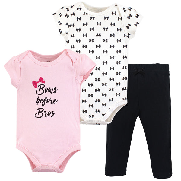 Little Treasure Cotton Bodysuit and Pant Set, Bows