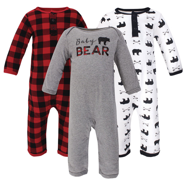 Little Treasure Cotton Coveralls, Baby Bear
