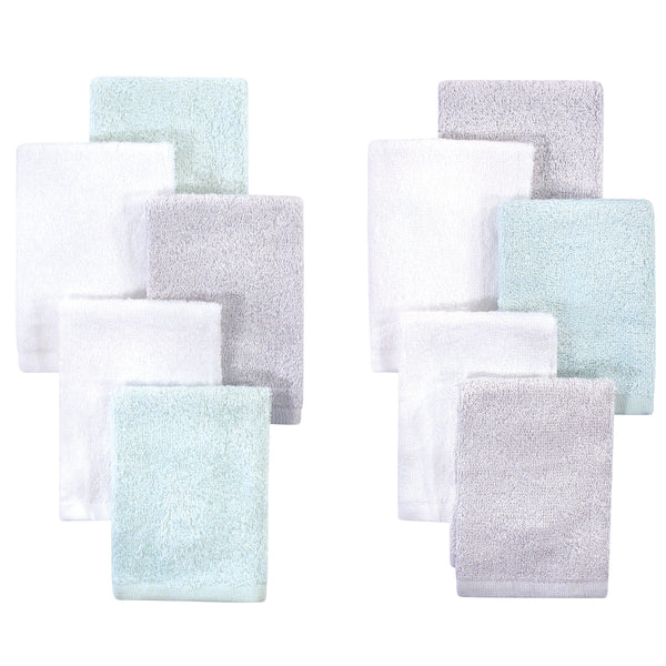 Little Treasure Rayon from Bamboo Luxurious Washcloths, Mint Gray