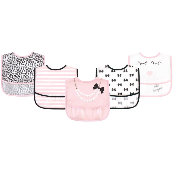 Little Treasure Waterproof PEVA Bibs, Hello Gorgeous