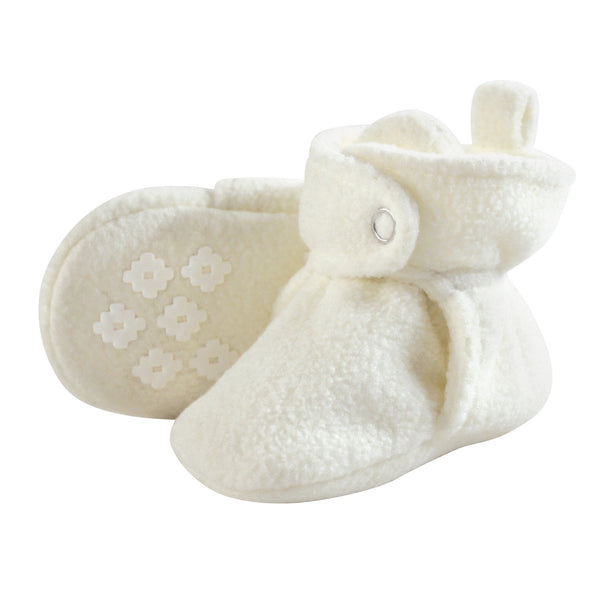 Little Treasure Cozy Fleece Booties, Cream