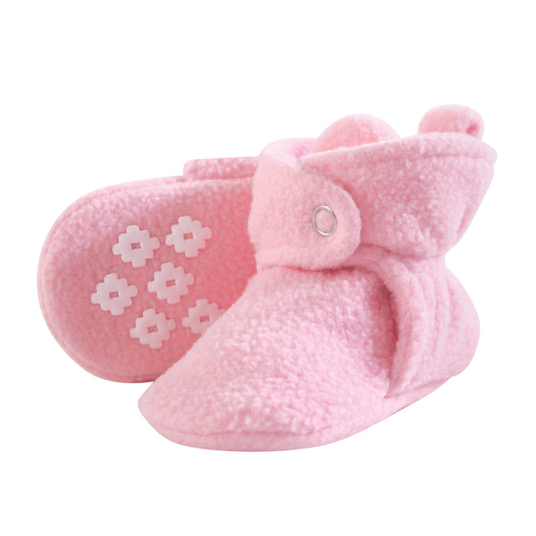 Little Treasure Cozy Fleece Booties, Light Pink