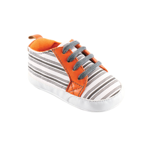 Yoga Sprout Sneakers, Gray Stripe