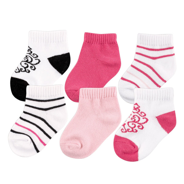 Yoga Sprout Socks, Black Pink