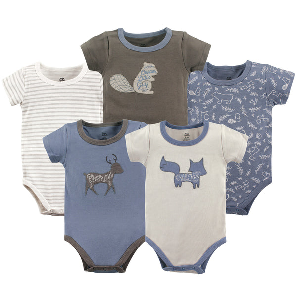 Yoga Sprout Cotton Bodysuits, Forest