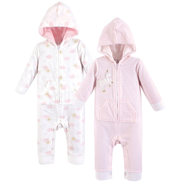 Yoga Sprout Hooded Fleece Jumpsuits, Unicorn Baby