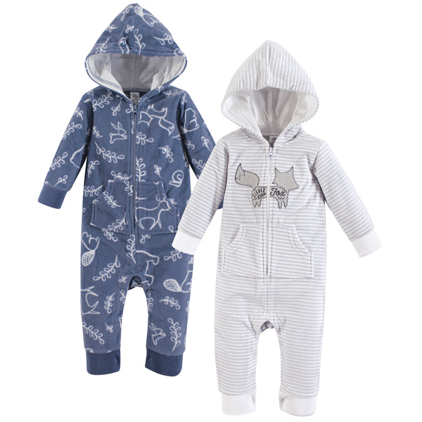Yoga Sprout Hooded Fleece Jumpsuits, Forest Baby