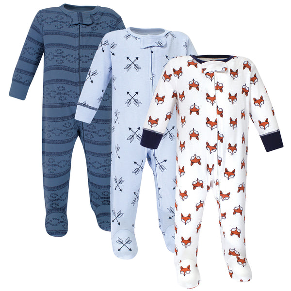 Yoga Sprout Cottton Zipper Sleep and Play, Fox