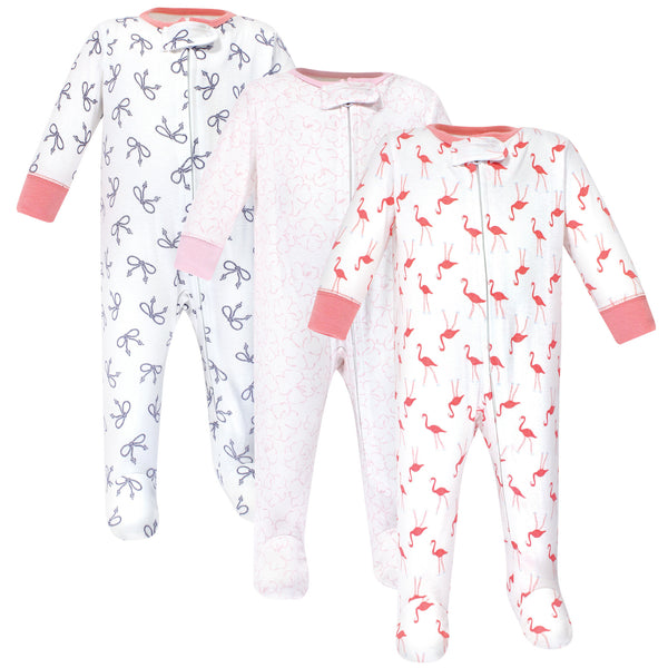 Yoga Sprout Cottton Zipper Sleep and Play, Flamingo
