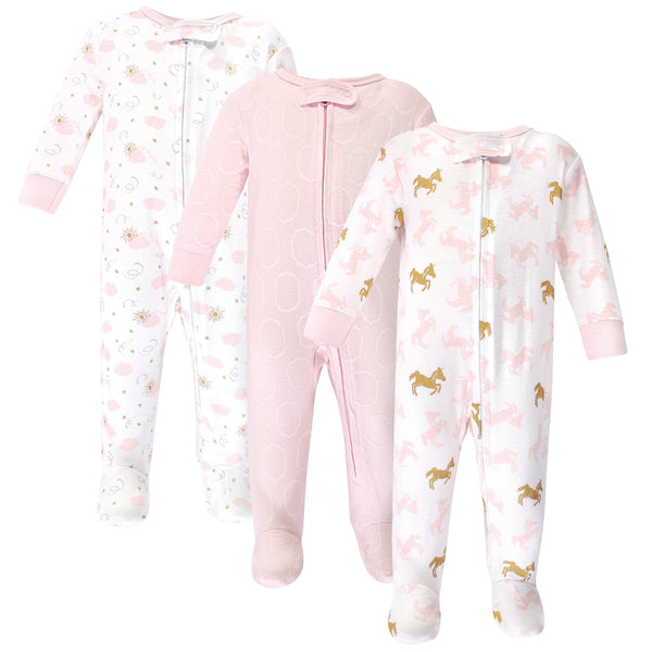 Yoga Sprout Cottton Zipper Sleep and Play, Unicorn