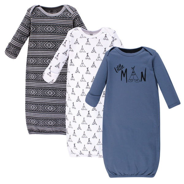 Yoga Sprout Cotton Gowns, Little Man