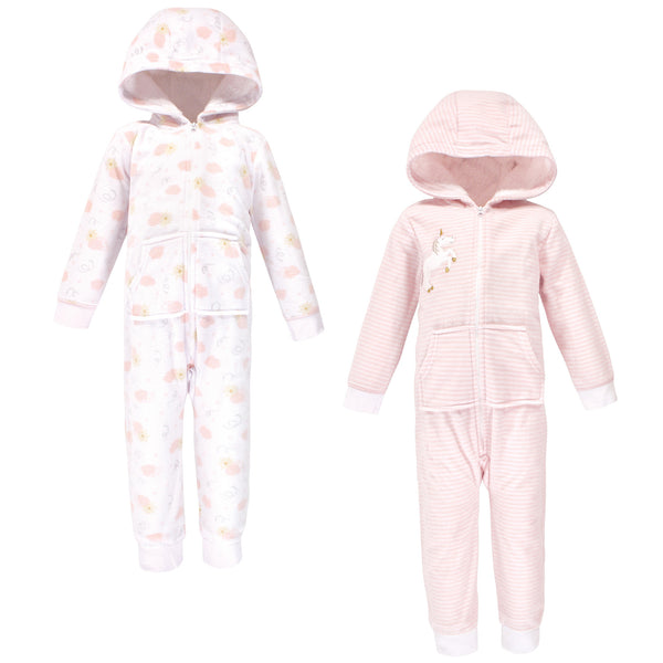Yoga Sprout Hooded Fleece Jumpsuits, Unicorn Toddler