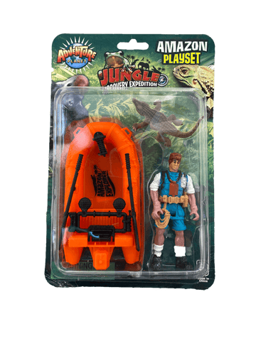 alligator boat action hero playset toy