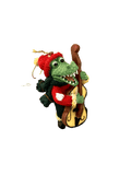 santa alligator bass ornament