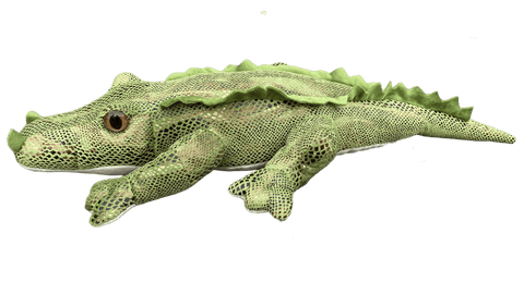 Plush alligator toy with bronze scales