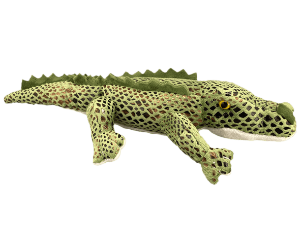 Plush gator with bronze scales