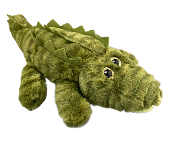 Golden eyed soft plush gator