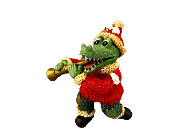 santa alligator clarinet ornament