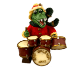 santa alligator drums ornament