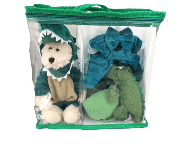Teddy bear gator dress up set