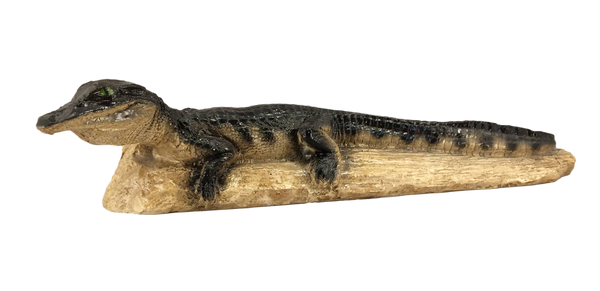 alligator on a log figurine