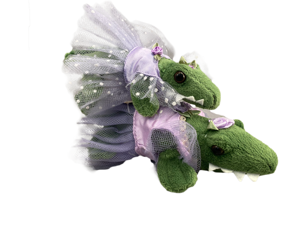 Green Ballet Gator (Purple tutu)