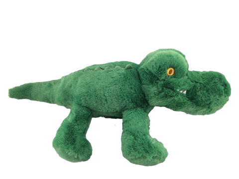 green plush gator with stitching