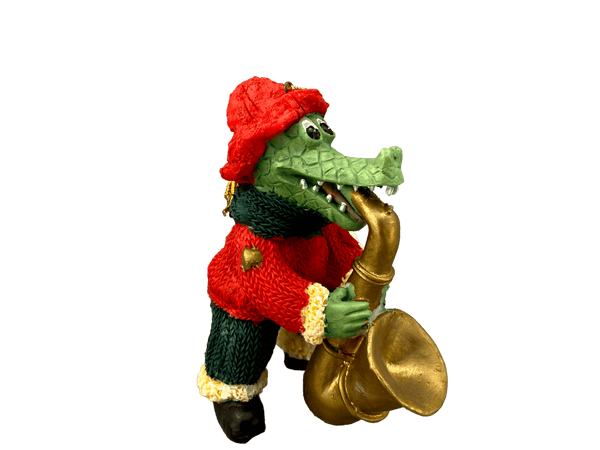 santa alligator saxophone