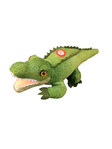 green plush alligator