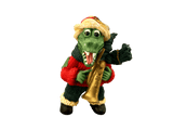 santa alligator trumpet ornament
