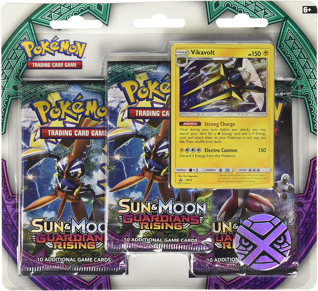 POKEMON: Guardians Rising SUN and MOON Blister 3 Pack