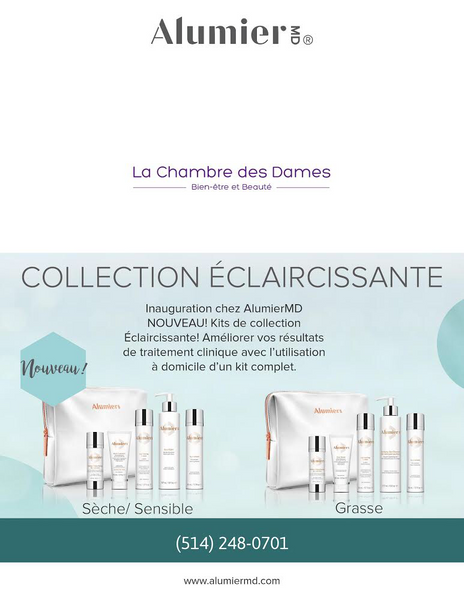 ALUMIER MD: Nouvelle collection éclaircissante!