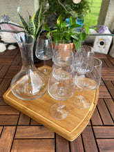 Load image into Gallery viewer, Decanter and Six Stemmed Wine Glasses Set